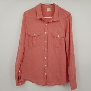J.Crew The Perfect Shirt Pink Button Down